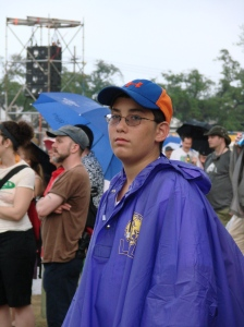 At Jazzfest 2008, in the rain